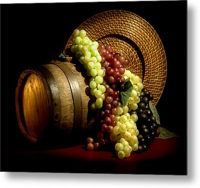 Grapes Of Wine Metal Print by Tom Mc Nemar