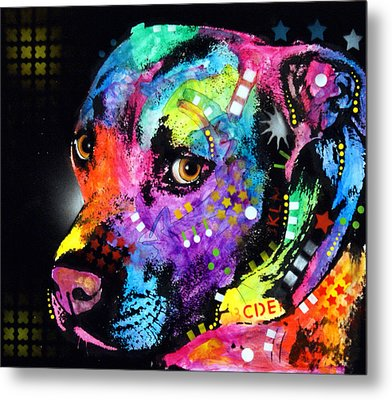 Gratitude Pitbull Metal Print by Dean Russo