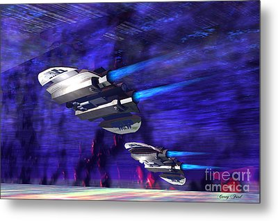 Gravitational Forces Metal Print by Corey Ford