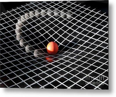 Gravity Simulation Metal Print by Ted Kinsman