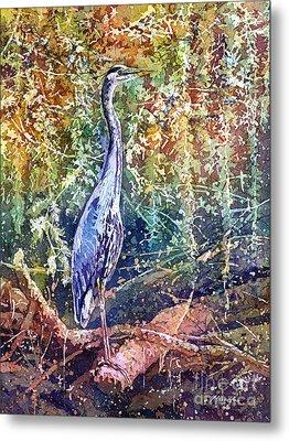 Great Blue Heron Metal Print by Hailey E Herrera