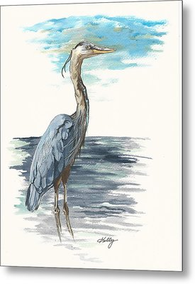 Great Blue Metal Print by Kathleen Kelly Thompson