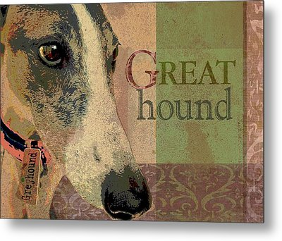 Great Greyhound Metal Print by Wendy Presseisen