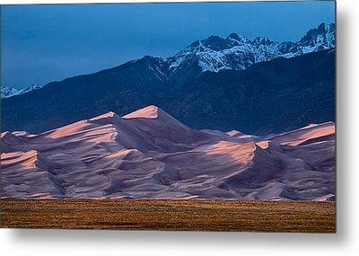Great Sand Dunes  Colorado Metal Print by Steve Gadomski