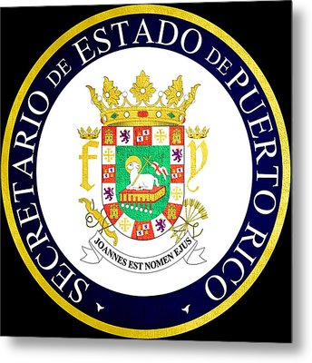 Great Seal Of Puerto Rico Metal Print by Mountain Dreams
