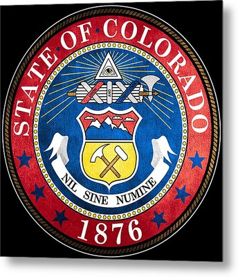 Great Seal Of The State Of Colorado Metal Print by Mountain Dreams