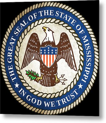 Great Seal Of The State Of Mississippi Metal Print by Mountain Dreams