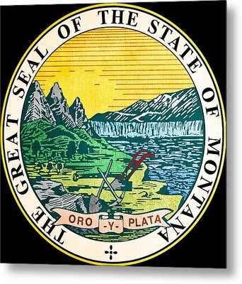 Great Seal Of The State Of Montana Metal Print by Mountain Dreams