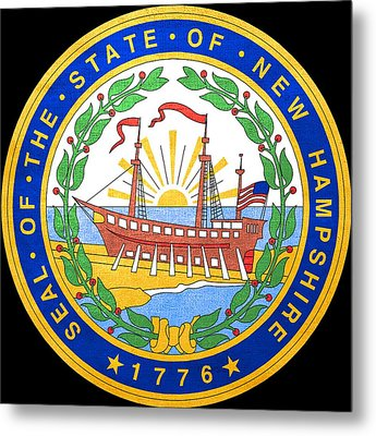 Great Seal Of The State Of New Hampshire Metal Print by Mountain Dreams