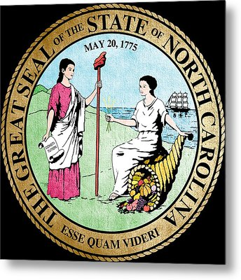 Great Seal Of The State Of North Carolina Metal Print by Mountain Dreams