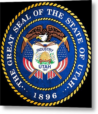 Great Seal Of The State Of Utah Metal Print by Mountain Dreams