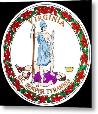 Great Seal Of The State Of Virginia Metal Print by Mountain Dreams