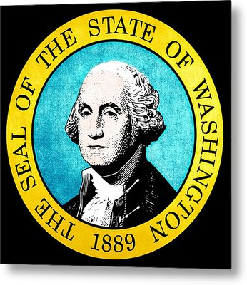Great Seal Of The State Of Washington Metal Print by D Benbenn