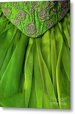 Green Frock Metal Print by Mexicolors Art Photography