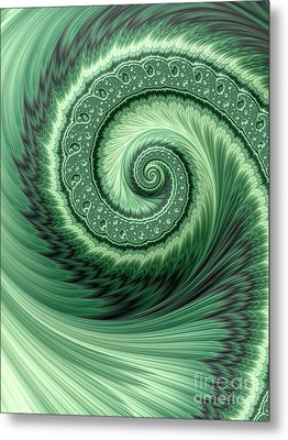 Green Shell Metal Print by John Edwards