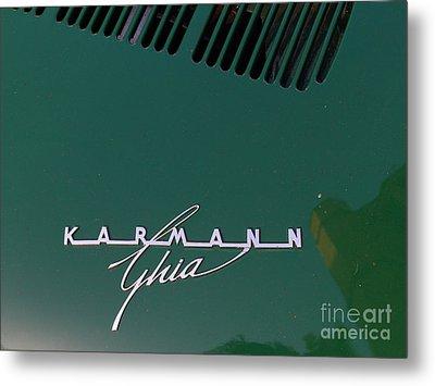Green Volkswagon Karmann Ghia . 7d10091 Metal Print by Wingsdomain Art and Photography