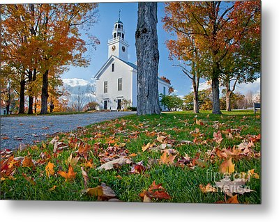 Greenfield Church Metal Print by Susan Cole Kelly