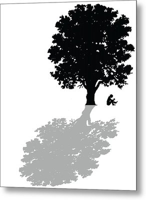 Gregorys Thoughts Lead Him To Question The Very Nature Of His Existence Metal Print by Mike Swift