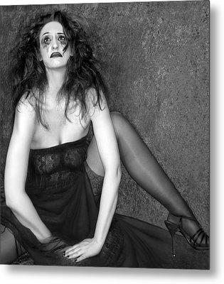 Grieve - Self Portrait Metal Print by Jaeda DeWalt