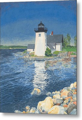 Grindle Point Light Metal Print by Dominic White