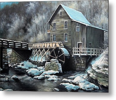 Grist Mill Metal Print by Mike Worthen