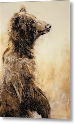 Grizzly Bear 2 Metal Print by Odile Kidd