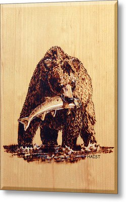 Grizzly Metal Print by Ron Haist