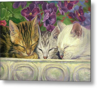 Group Nap Metal Print by Lucie Bilodeau