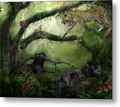Growing Wild Metal Print by Carol Cavalaris