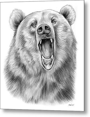 Growling Bear Metal Print by Greg Joens