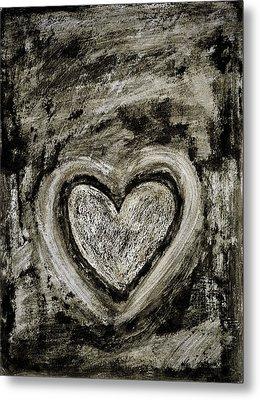 Grunge Heart Metal Print by Frank Tschakert