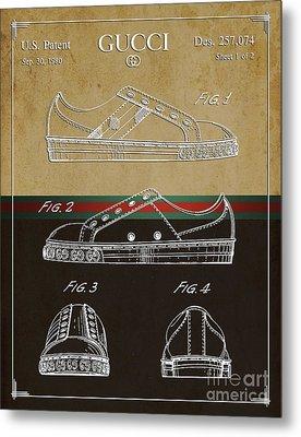 Gucci Shoe Patent 2 Metal Print by Nishanth Gopinathan
