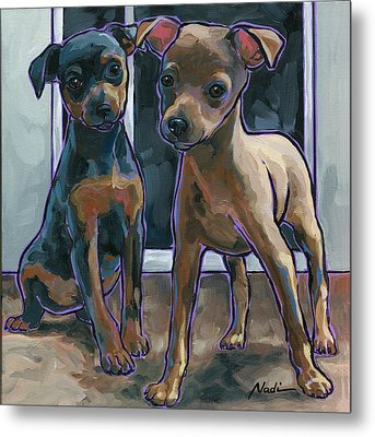 Guinness And Bailey Metal Print by Nadi Spencer