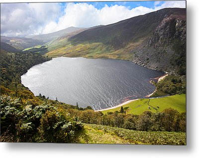 Guinness Lake In Wicklow Mountains  Ireland Metal Print by Semmick Photo