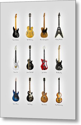Guitar Icons No2 Metal Print by Mark Rogan