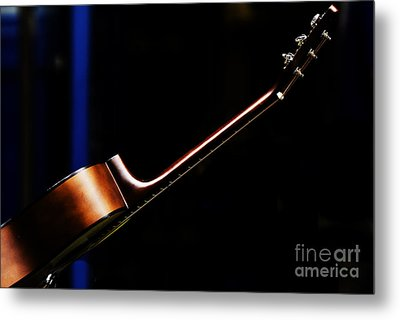 Guitar Metal Print by Avalon Fine Art Photography