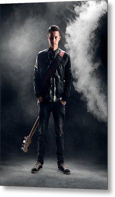 Guitarist Metal Print by Johan Swanepoel