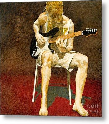 Guitarman... Metal Print by Will Bullas