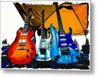 Guitars At Intermission Metal Print by David Patterson