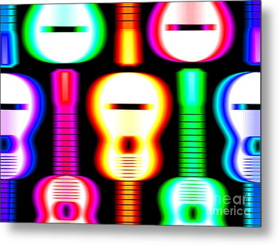Guitars On Fire 4 Metal Print by Andy Smy