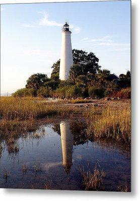 Gulf Coast Lighthouse Metal Print by Marty Koch