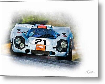 Gulf Porsche Metal Print by Peter Chilelli