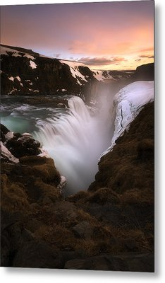 Gullfoss Metal Print by Tor-Ivar Naess