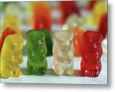 Gummy Bear Meeting Metal Print by Tracy  Hall