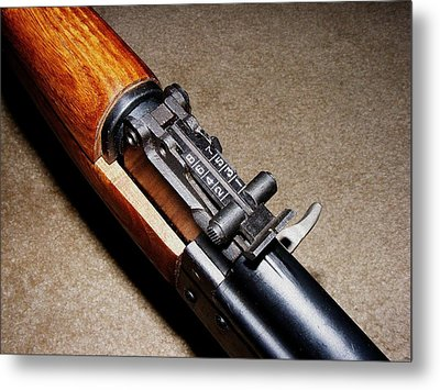Gun - Sks - Close-up Metal Print by Anastasiya Malakhova
