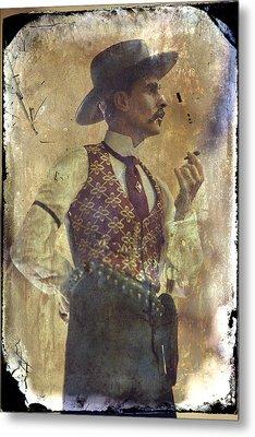 Gunslinger IIi Doc Holliday In Fine Attire Metal Print by Toni Hopper