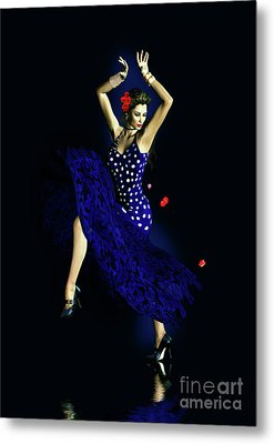 Gypsy Blue Metal Print by Shanina Conway