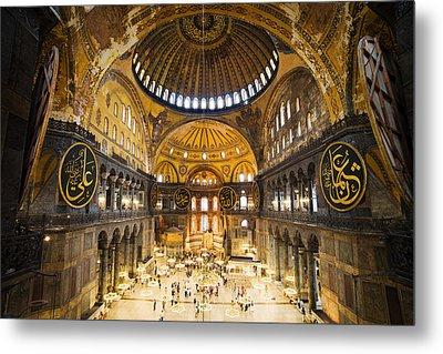 Hagia Sophia Interior Metal Print by Artur Bogacki