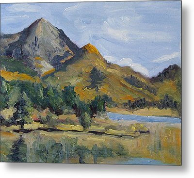 Hahns Peak From Rainbow Point Steamboat Lake State Park Colorado Metal Print by Zanobia Shalks