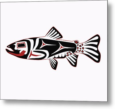 Haida Trout Metal Print by Rob Tullis